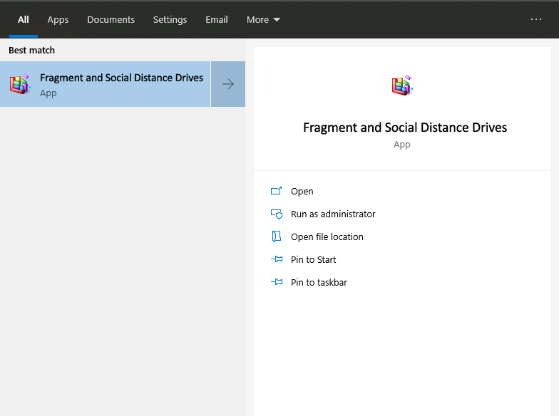 Fragment and Social Distance Drives